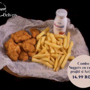 Combo Nuggets cu cartofi prajiti si Actimel