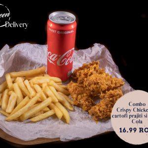 Combo Crochete de pui cu cartofi prajiti si Coca Cola